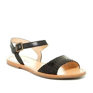 Cole Haan Woven Leather Flat Sandals
